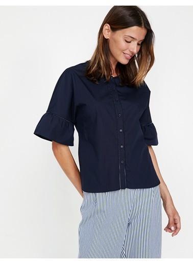 Koton Fırfır Detaylı Gömlek Lacivert